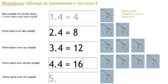 жирафска таблица