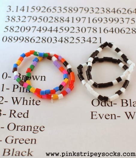5 Use the digis of Pi to make bracelets